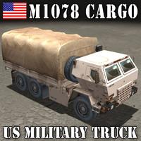 3d m1078 cargo truck transport model
