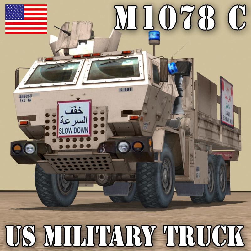 3d model m1078 cargo truck transport