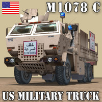 US.CARGO TRUCK M1078 C LMTV CHECK POINT