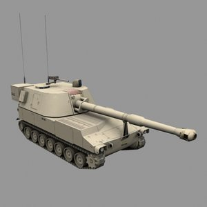 3ds max m109 tank