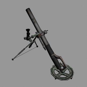 m224 mortar 3d model