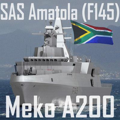 meko a-200san class south african 3d model