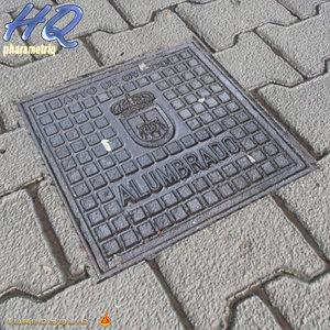 manhole cover 3ds