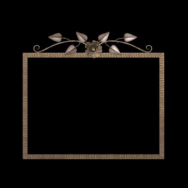fer mirror picture frame 3d model