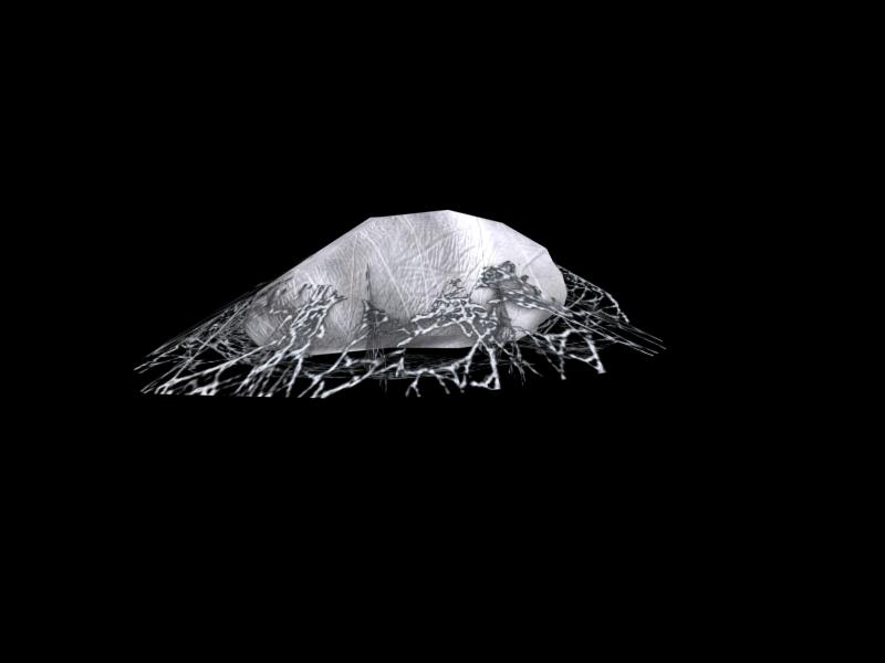 3d model spider egg sack