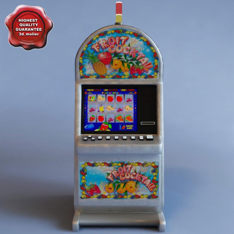3d model slot machine fruitecocktail