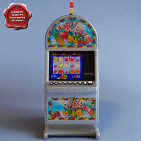 3d model slot machine fruitecocktail