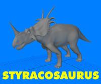 3ds styracosaurus triceratops