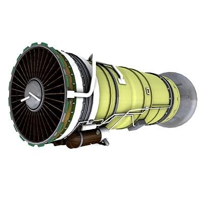 jet turbine 3d c4d