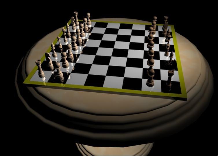 chess set 3d c4d