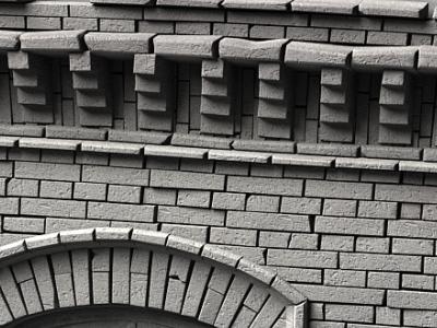 3d max old brick wall architecture