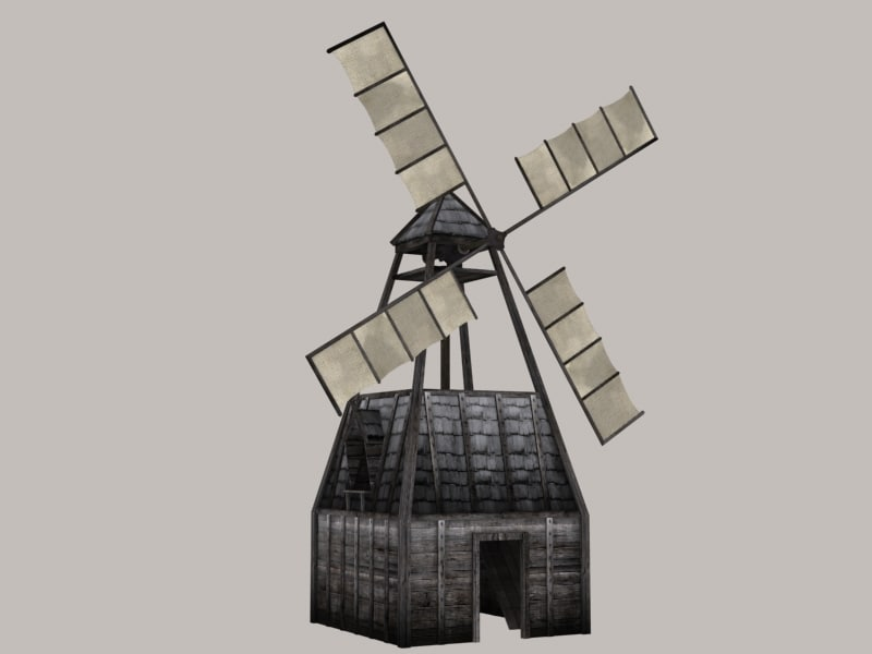 3d model of windmill
