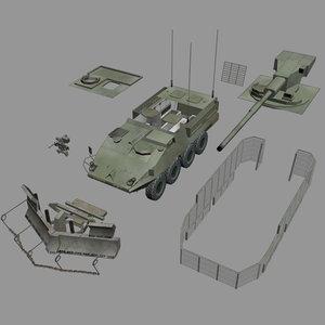 stryker iav lav vehicle 3d model