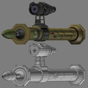 tank-buster rocket 3d model