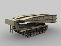 armored vehicle launching bridge 3d 3ds