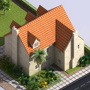 3dsmax residential block