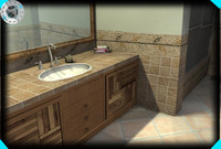 3d max bathroom