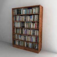 book shelf bookshelf 3ds