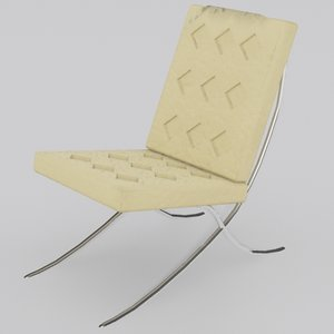 3d 3ds barcelona chair
