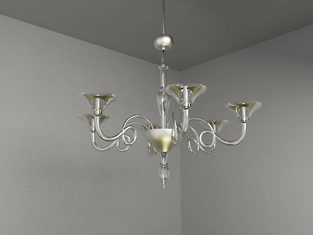 classic chandelier lighting 3d model