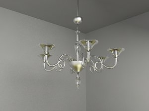 classic chandelier lighting 3d model