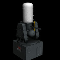 CIWS Phalanx (Game/Low Poly)