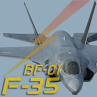 3d f-35 bf-1 lightning ii model