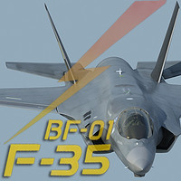 US  Air Force F-35 BF-1 Lightning II STOVL with USAF pilot