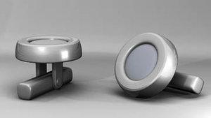 cufflink cuff link 3d model