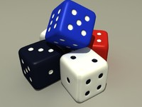 free dices 3d model