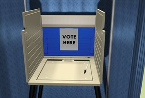 3d voting booth model
