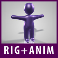 3d rigged plastic figure