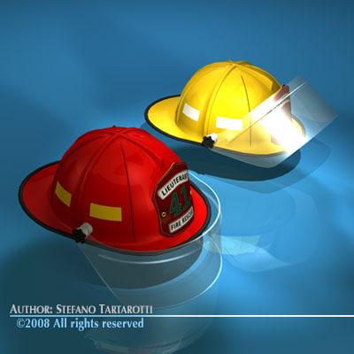 3d firemen helmet