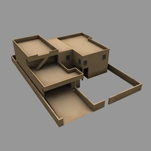 2-story middle eastern residences 3d 3ds