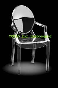 3d model louis ghost chair