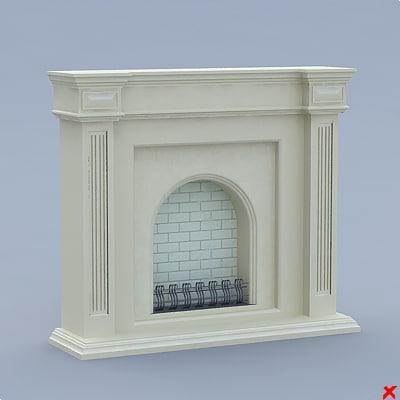 fireplace 3d dxf