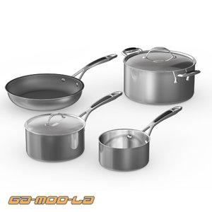 3d pots pans