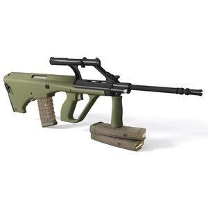 steyr aug assault rifle 3d model