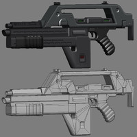 3d model pulse rifle