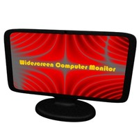 widescreen computer monitor 3d model