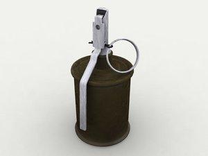 3d model rg-42 hand grenade