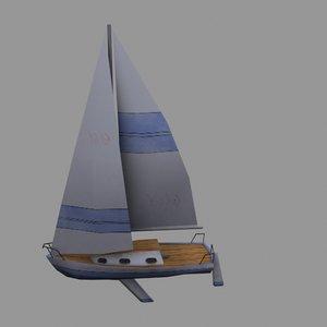 3d sailboat torque dts model