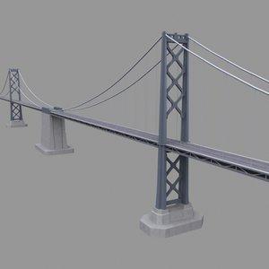 san francisco ca bay bridge 3d model