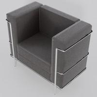 3d model sofa single seat