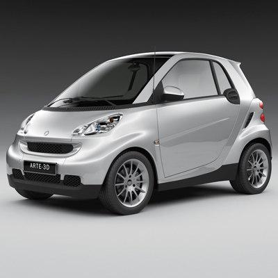 2011 smart fortwo 3d model