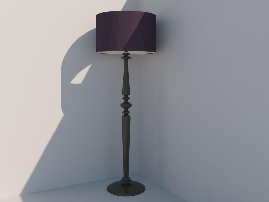 model spindle floor lamp