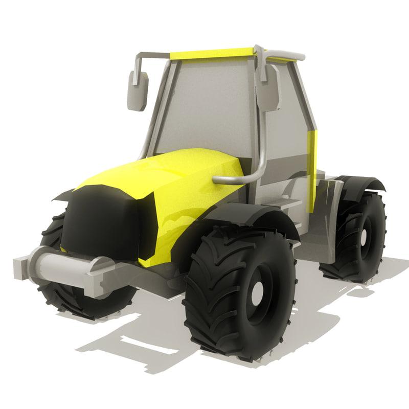 3d modern tractor
