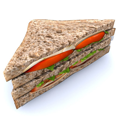sandwich tramezzino tramezzini 3d max