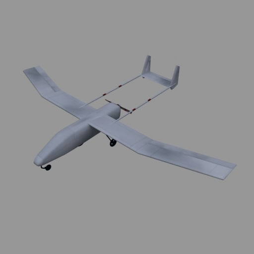 3d model of unmanned aerial vehicle uav