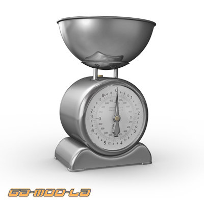 3d model weighing scales